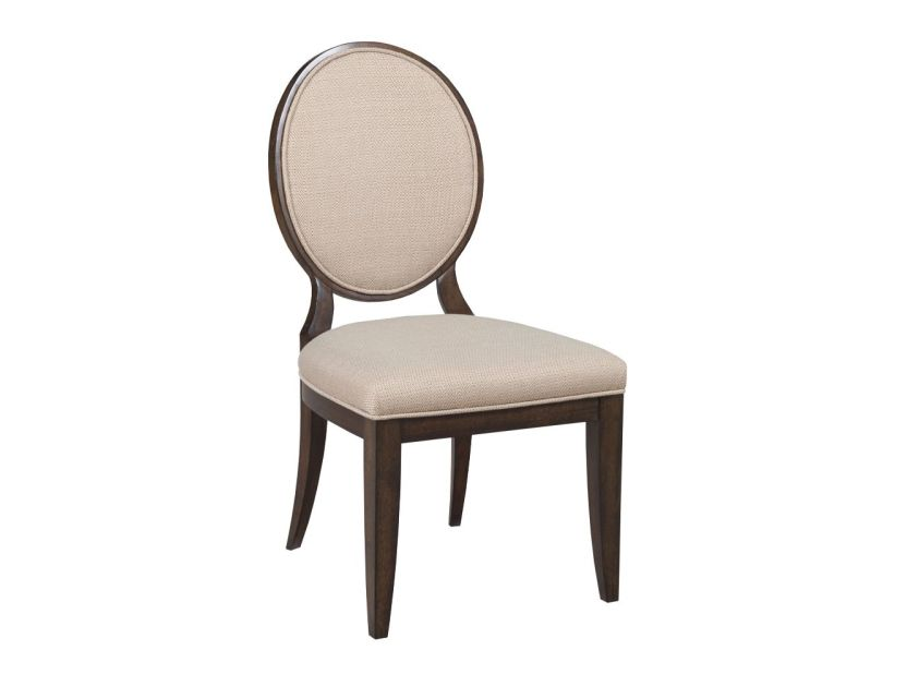 CHAIR, SIDE UPH W/DECORATIVE BK