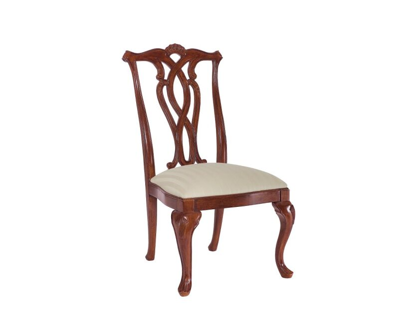 CHAIR, SIDE WOOD BACK/SEAT-UPH