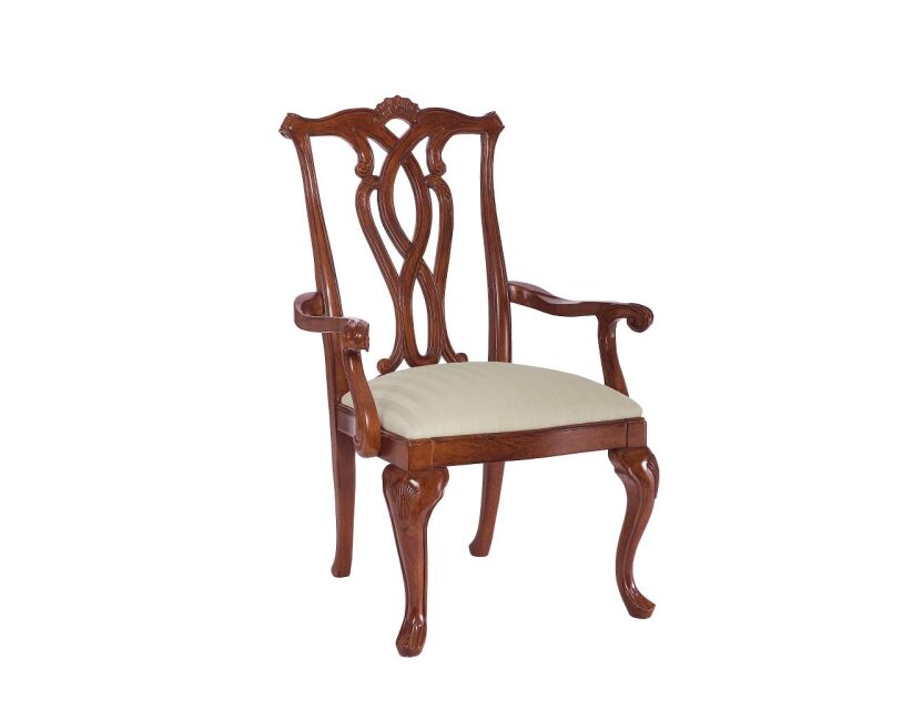 CHAIR, ARM WOOD BACK/SEAT-UPH