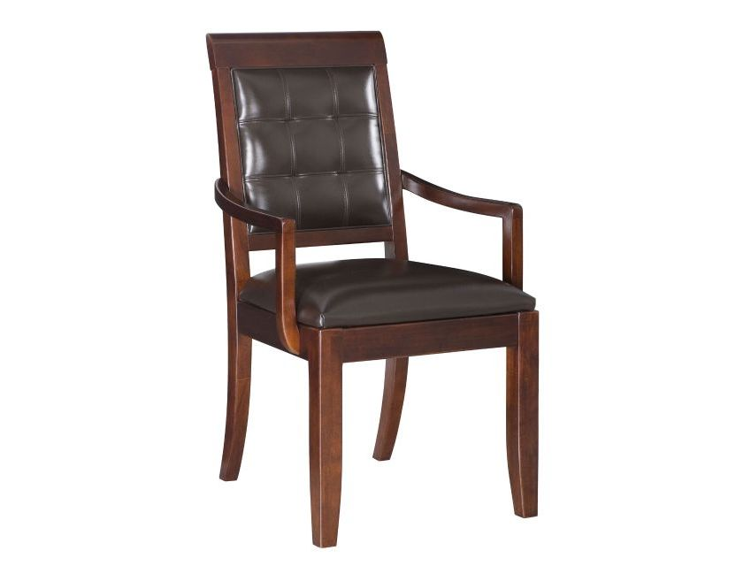 CHAIR, ARM LEATHER S&B-UPH