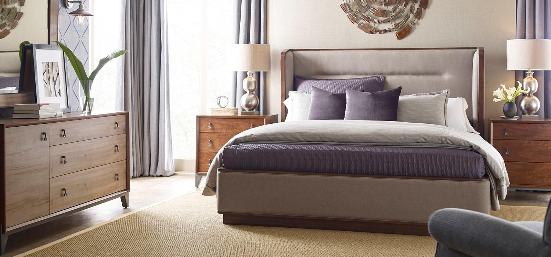 Ad modern synergy for American drew oak bedroom furniture